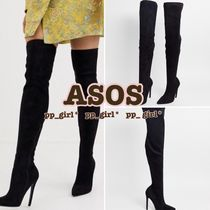 ASOS Casual Style Suede Street Style Plain Pin Heels