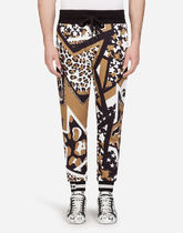 Dolce & Gabbana Printed Pants Star Leopard Patterns Sweat Street Style