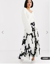 ASOS Flared Skirts Casual Style Other Animal Patterns Long