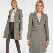 NAF NAF Wool Plain Medium Elegant Style Peacoats