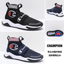 CHAMPION Platform Round Toe Rubber Sole Casual Style Blended Fabrics