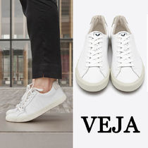 VEJA Casual Style Unisex Plain Leather Low-Top Sneakers