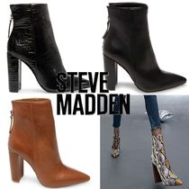 Steve Madden Casual Style Plain Other Animal Patterns Block Heels