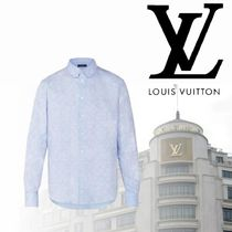 Louis Vuitton Camouflage Monogram Unisex Long Sleeves Cotton Shirts