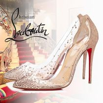 Christian Louboutin Leather PVC Clothing With Jewels High Heel Pumps & Mules