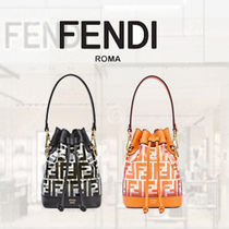 FENDI MON TRESOR Casual Style Calfskin 2WAY Leather Purses Crystal Clear Bags