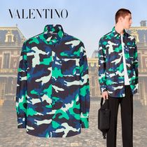 VALENTINO Camouflage Nylon Long Sleeves Shirts