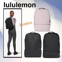 lululemon City Adventurer Casual Style Unisex Plain Office Style Backpacks