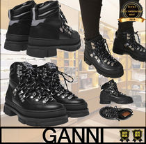 Ganni Casual Style Unisex Street Style Plain Boots Boots