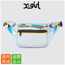 X-girl Street Style Crystal Clear Bags Shoulder Bags