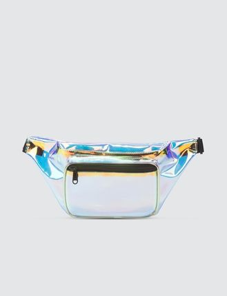 Street Style Crystal Clear Bags Logo Shoulder Bags