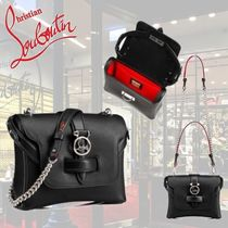 Christian Louboutin Casual Style Calfskin Plain Leather Party Style Office Style
