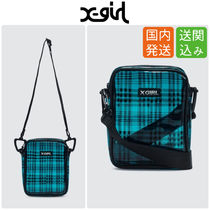 X-girl Street Style Crystal Clear Bags PVC Clothing Shoulder Bags