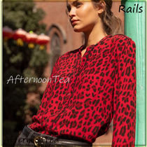 Rails Leopard Patterns Long Sleeves Medium Handmade