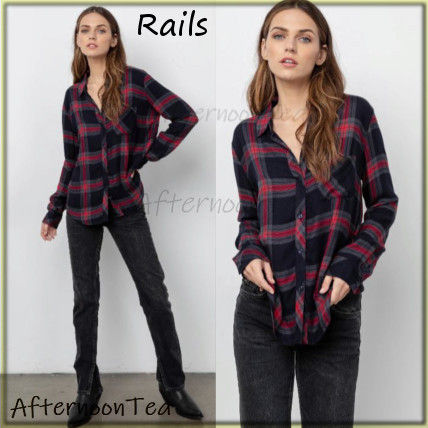 Other Check Patterns Long Sleeves Medium Handmade