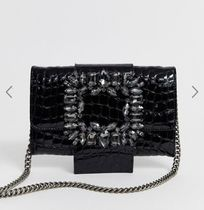 Kurt Geiger Casual Style Crocodile Chain Other Animal Patterns Leather