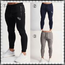 VANQUISH FITNESS Tapered Pants Unisex Street Style Plain Cotton Tapered Pants