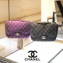CHANEL ICON Casual Style Denim Blended Fabrics 2WAY Chain Plain
