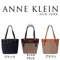 Anne Klein Other Check Patterns Faux Fur Totes