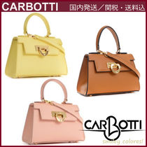 CARBOTTI Casual Style Leather Elegant Style Shoulder Bags