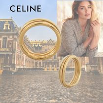 CELINE Casual Style Party Style Brass Elegant Style Rings