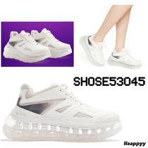 SHOES 53045 Enamel Plain Leather Oversized Sneakers