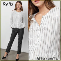 Rails Stripes Blended Fabrics Long Sleeves Medium Handmade