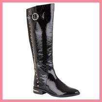 Lipsy Round Toe Casual Style Studded Plain Chelsea Boots