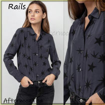 Rails Star Silk Long Sleeves Medium Handmade Shirts & Blouses