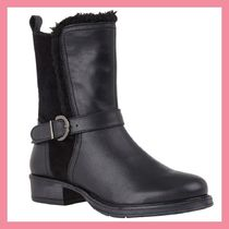 Lipsy Round Toe Casual Style Plain Leather Chelsea Boots