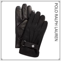 POLO RALPH LAUREN Street Style Plain Leather Leather & Faux Leather Gloves