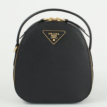 PRADA SAFFIANO LUX Plain Leather Elegant Style Backpacks