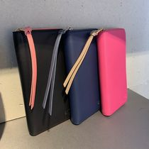 LOEWE Plain Leather Long Wallets