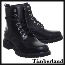 Timberland Casual Style Plain Leather Flat Boots