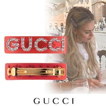 GUCCI Barettes Party Style With Jewels Clips