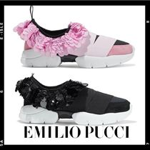Emilio Pucci Suede Leather Elegant Style Low-Top Sneakers