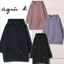 Agnes b Long Sleeves Long Logos on the Sleeves Logo