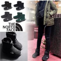 THE NORTH FACE Nuptse Casual Style Unisex Plain Ankle & Booties Boots