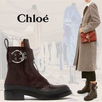 Chloe Roy Rubber Sole Casual Style Plain Leather Party Style