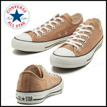 CONVERSE ALL STAR Plain Toe Casual Style Street Style Plain Low-Top Sneakers