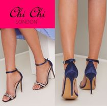Chi Chi London Casual Style Pin Heels Party Style With Jewels Elegant Style