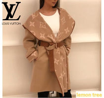 Louis Vuitton Monogram Wool Blended Fabrics Elegant Style Coats