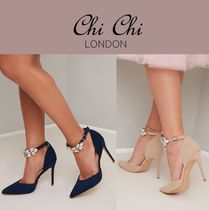 Chi Chi London Spawn Skin Plain Pin Heels Party Style With Jewels