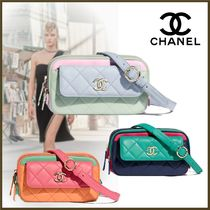 CHANEL Casual Style Street Style 3WAY Chain Plain Leather