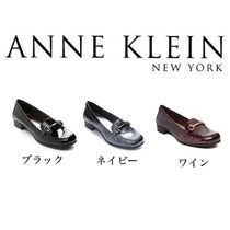 Anne Klein Square Toe Plain Python Loafer & Moccasin Shoes