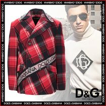 Dolce & Gabbana Short Other Check Patterns Wool Peacoats Coats