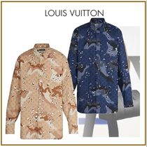 Louis Vuitton Camouflage Long Sleeves Cotton Shirts