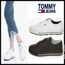 Tommy Hilfiger Street Style Leather Low-Top Sneakers