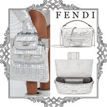 FENDI Monogram Casual Style Collaboration 3WAY Chain Leather