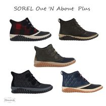 SOREL Other Plaid Patterns Camouflage Lace-up Casual Style Suede